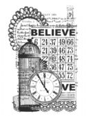 KAISERCRAFT  - Clear Stamp - Vintage Believe - CS832